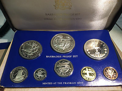 1975 Barbados Proof Set with box and OGP