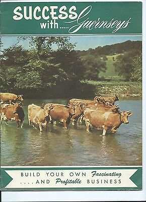 1953 American GUERNSEY Cattle SUCCESS booklet Cows Bulls Dairy Farm History RARE