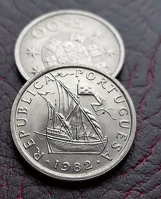 Portugal 5 Escudos Coin Km# 591 - Choose Your Year! Free Uk Post!