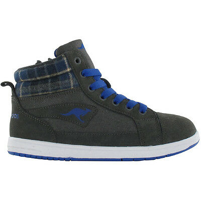 KangaROOS Boys Glido Suede Leather Casual Walking Boots