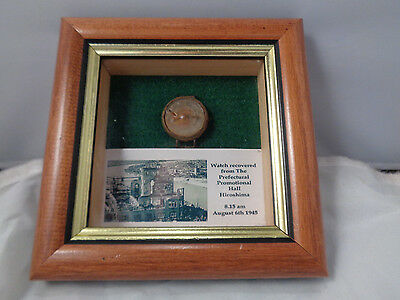 ! Rarest Watch In The World ! Wristwatch Recovered From The Ww2 Hiroshima Bomb