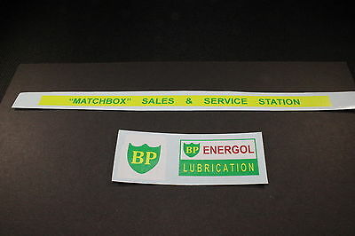 """Matchbox Transfers/decals - Mg1-2 Service Station """"bp"""""""