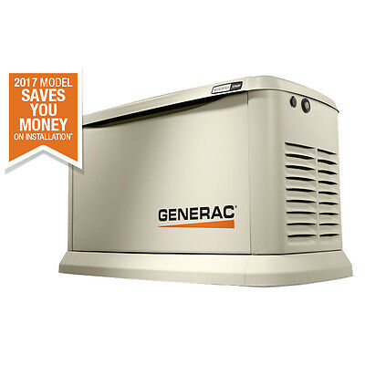 22KW Guardian Standby Generator w/ Aluminum Enclosure NO Switch Generac 7042 New