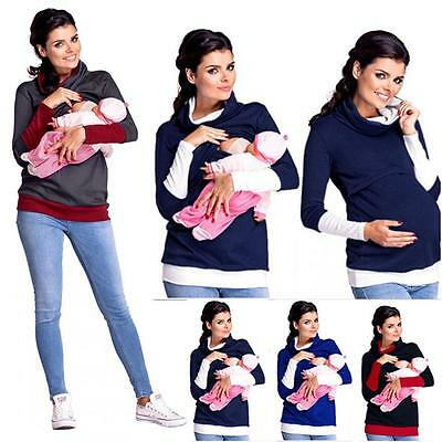 Maternity Clothes Breastfeeding Tops Nursing Maternity Women High-neck Top