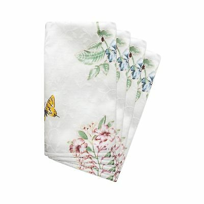 Lenox Butterfly Meadow Set of 4 Napkins 2 Day Shipping