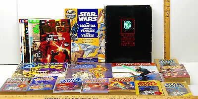 Star Wars Book Lot Essential Guide To Vehicles+Star Wars Fan Club+Storybook+Book