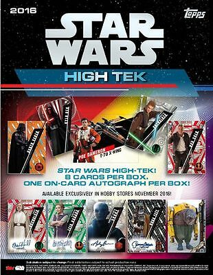 2016 Topps Star Wars High Tek Trading Card Hobby Box New/Sealed