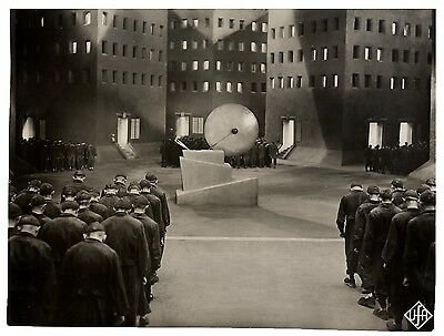 METROPOLIS (1927) Vtg orig dbl wt German UFA still / workers in underworld FINE