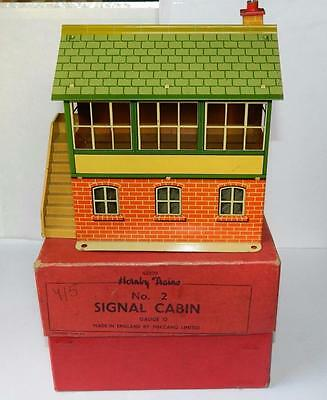 HORNBY MECCANO BOXED TINPLATE O GAUGE No.2 SIGNAL CABIN #42370 VINTAGE 1951 VNM