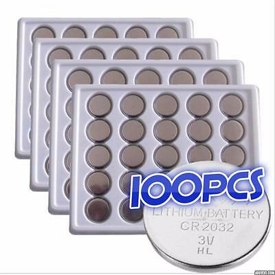 100 x EUNICELL CR2032 Batteries  Button Cell Lithium Battery 3V - DL2032 Watch