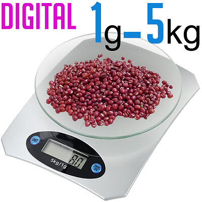 Digital Electronic LCD 1G to 5KG Cooking Food Fruit Weight Scale Scales Postal
