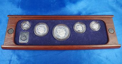 1989P Australia $5 $10 $25 $50 $100 Platinum Proof Coin Set Original Packaging