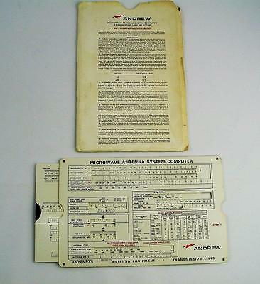 Vintage Slide Rule Calculator  Andrew Antennas 1962 Slide Rule Calculator