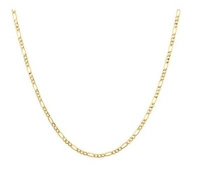 "Solid 10k Yellow Gold Figaro Chain 45cm 18"" 3.1gm Michael Hill MHJ #691"
