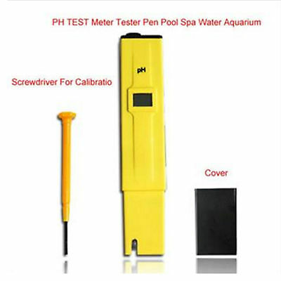 Portable Digital PH Meter Tester Pocket Pool Water Aquarium Hydroponic Wine Tool