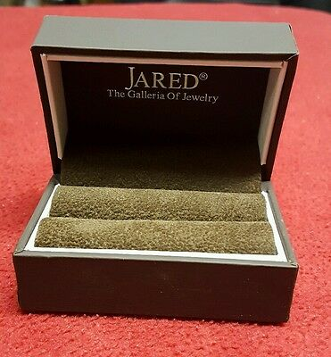 NEW Jared Empty Brown Ring Box with Unique Interior for More Storage Options
