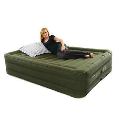 Smart Air Beds Raised Ultra Tough Inflatable Mattress with Rechargable Pump, Bag