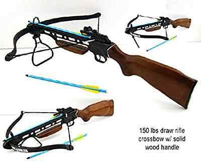 Man Kung Hunting 150lbs Wood Hunting Crossbow Powerful Bow Cross Bow New