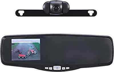 Peak PKC0RG Small Rearview Mirror with 3.5-Inch Backup Camera