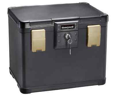 Honeywell 1106 0.64 Cubic Feet Molded Fire/Water File Chest, Black