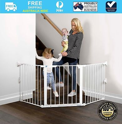 Childcare Baby Child Safety Gate Pet Barrier Flexi Gate #`089344-003