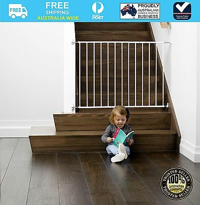 Childcare Baby Child Safety Gate Pet Barrier Fastway White #`089345-003