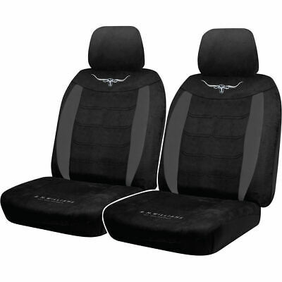 R.M.Williams Suede Velour Seat Covers - Black, Adjustable Headrests, Size 30,...