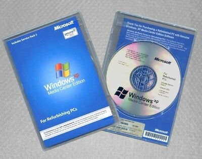 Windows XP Media Center Edition +SP3 RFB Full Version Disc, COA & CD Product Key