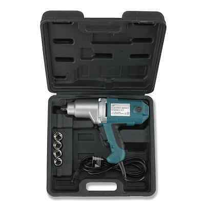 Hiltex 10870 1/2-Inch Electric Impact Wrench Kit with 4 Metric Sockets 9-22mm
