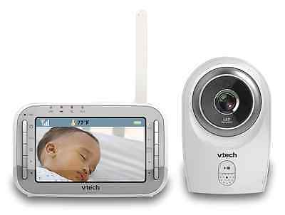 VTech VM341 Safe and Sound Video Baby Monitor with Night Vision, White