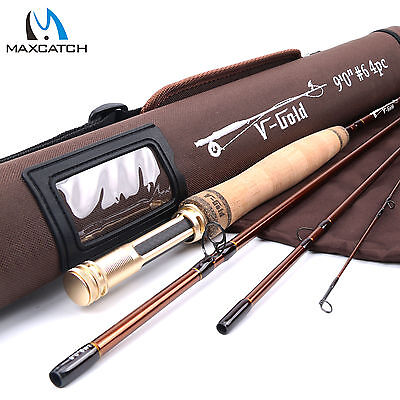 Maxcatch 9FT LW6 4Sec Fast Action Graphite(IM12) Fly Fishing Rod & Cordura Tube