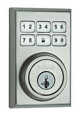Weiser GED1490 15 SMT CNT VS SmartCode Electronic Deadbolt featuring SmartKey in