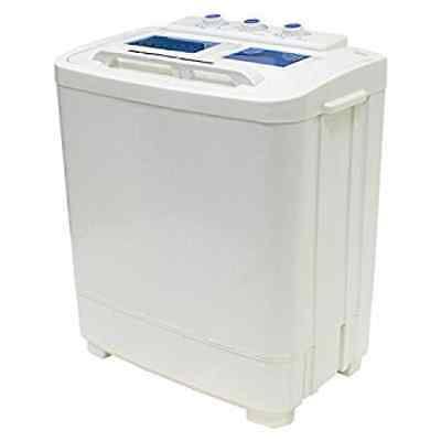 Portable Compact Washer and Spin Dry Cycle with Built in Pump (33L Washer & 16L