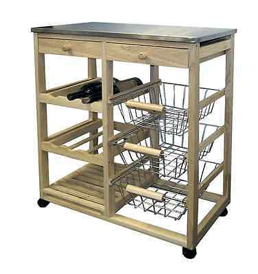 Ore International H-43 Wood Kitchen Cart