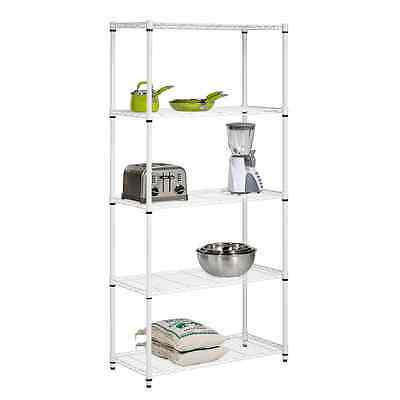 Honey-Can-Do SHF-01573 5-Tier Adjustable Shelving System, 14-Inch by 36-Inch by