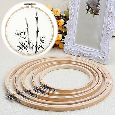 Cross Stitch Craft Machine Bamboo Embroidery Hoop Ring Sewing Tool 10-26cm