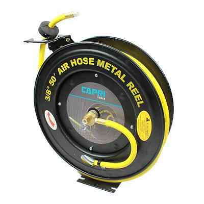 Capri Tools Auto-Rewind Retractable 50-Feet Air Hose Reel with 3/8-Inch Rubber H