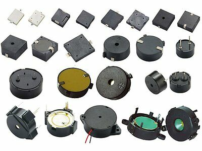 Buzzers - Piezo, active, elements - Your choice!  Assorted types available