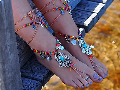 Barefoot Sandals,Anklet's, Foot jewellery, boho, beach jewellery, beach shoes