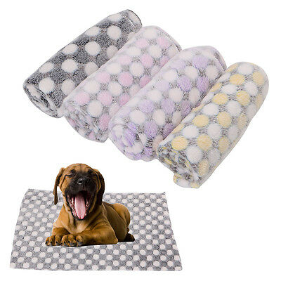 Pet Flannel Mat Blanket Dog Puppy Kitten Cat Bed Pad Cute Animal Gift Warm Soft