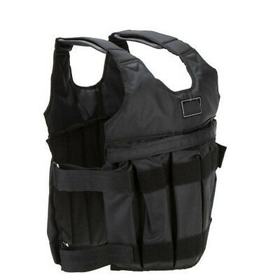 Black Adjustable Workout Weight Weighted Vest Exercise Running Training Fitness