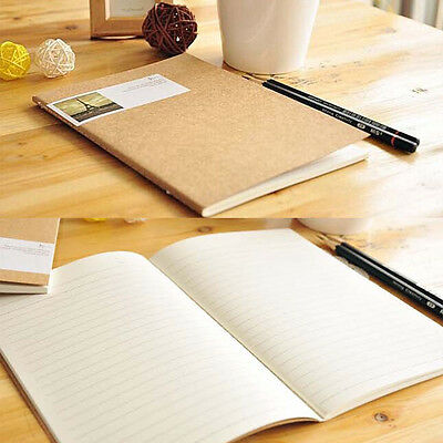 Vintage Diary Exercise Book Leather Cover Travel Planner Pocket Notebook