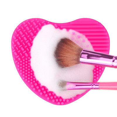 Silicone Makeup Brush Cleaner Washing Scrubber Board Cleaning Mat Pad maquillaje