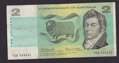$2 Paper Banknote Commonwealth of Australia Coombs Wilson FCD  Series I-125
