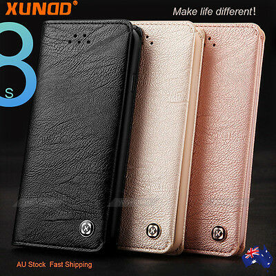 iPhone/ Samsung Galaxy S8 Plus Case, Luxury XUNDD Leather Card Wallet Flip Cover