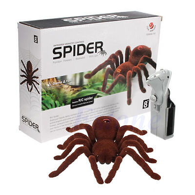 Remote Control Soft Scary Plush Creepy Spider Infrared RC Tarantula Kid Gift Toy