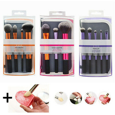 New 4 Sets Real Techniques MakeUp Brushes Cosmetic Core Collection Starter Set