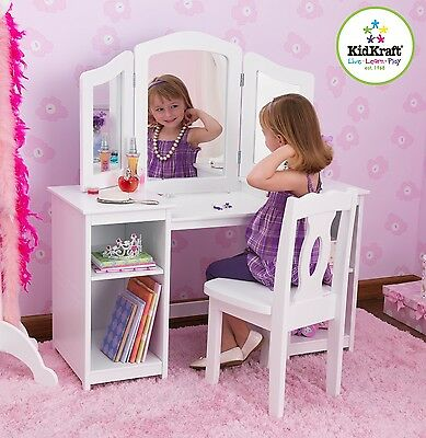 Kidkraft Deluxe Vanity unit, Girls Wooden Dressing Table