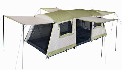 OZtrail Bungalow-Dome-Tent-9-Person-MAN-Family-Camping-Hiking-Outdoors