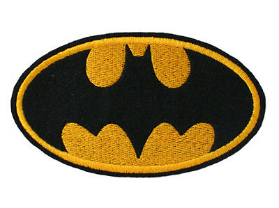 Iron on and Sew On Embroidered Patch BATMAN Logo Large Size